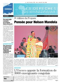 Les Dépêches de Brazzaville : Édition brazzaville du 15 juillet 2013