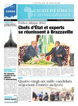 Les Dépêches de Brazzaville : Édition brazzaville du 23 juillet 2013