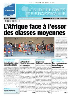 Les Dépêches de Brazzaville : Édition brazzaville du 24 juillet 2013