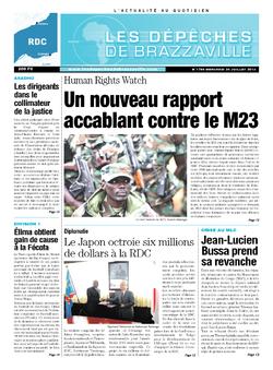Les Dépêches de Brazzaville : Édition kinshasa du 24 juillet 2013