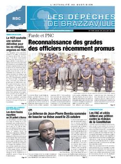 Les Dépêches de Brazzaville : Édition kinshasa du 25 juillet 2013
