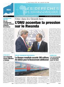 Les Dépêches de Brazzaville : Édition kinshasa du 26 juillet 2013