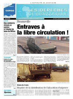 Les Dépêches de Brazzaville : Édition brazzaville du 29 juillet 2013