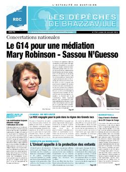 Les Dépêches de Brazzaville : Édition kinshasa du 29 juillet 2013