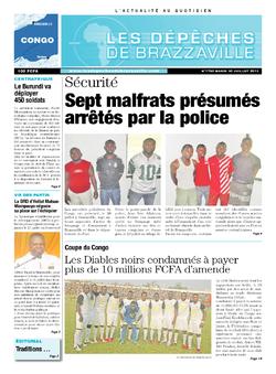 Les Dépêches de Brazzaville : Édition brazzaville du 30 juillet 2013