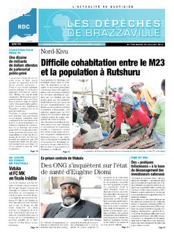 Les Dépêches de Brazzaville : Édition kinshasa du 30 juillet 2013