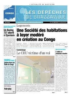 Les Dépêches de Brazzaville : Édition brazzaville du 31 juillet 2013