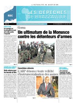 Les Dépêches de Brazzaville : Édition kinshasa du 31 juillet 2013