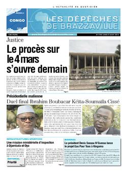 Les Dépêches de Brazzaville : Édition brazzaville du 05 août 2013