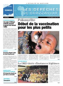 Les Dépêches de Brazzaville : Édition brazzaville du 06 août 2013