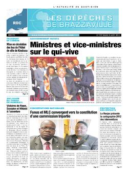 Les Dépêches de Brazzaville : Édition kinshasa du 06 août 2013