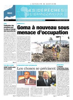 Les Dépêches de Brazzaville : Édition kinshasa du 08 août 2013