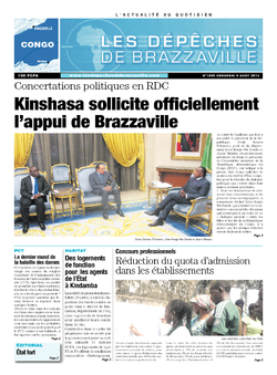 Les Dépêches de Brazzaville : Édition brazzaville du 09 août 2013