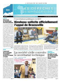 Les Dépêches de Brazzaville : Édition kinshasa du 09 août 2013