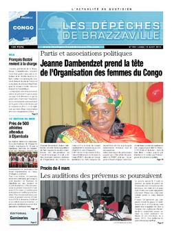 Les Dépêches de Brazzaville : Édition brazzaville du 12 août 2013