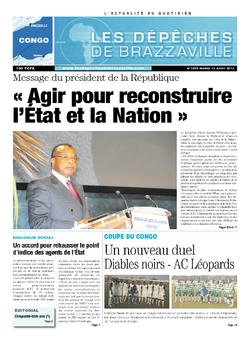 Les Dépêches de Brazzaville : Édition brazzaville du 13 août 2013