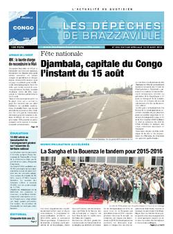 Les Dépêches de Brazzaville : Édition brazzaville du 14 août 2013