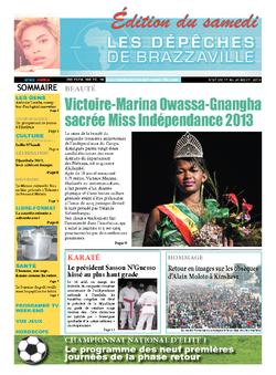 Les Dépêches de Brazzaville : Édition du 6e jour du 17 août 2013