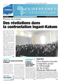 Les Dépêches de Brazzaville : Édition brazzaville du 22 août 2013