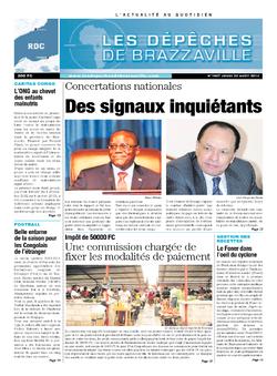 Les Dépêches de Brazzaville : Édition kinshasa du 22 août 2013