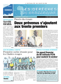 Les Dépêches de Brazzaville : Édition brazzaville du 26 août 2013