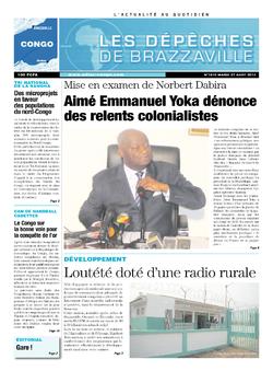 Les Dépêches de Brazzaville : Édition brazzaville du 27 août 2013