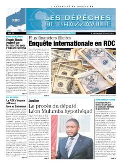 Les Dépêches de Brazzaville : Édition kinshasa du 27 août 2013