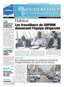 Les Dépêches de Brazzaville : Édition brazzaville du 28 août 2013