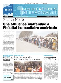 Les Dépêches de Brazzaville : Édition brazzaville du 29 août 2013
