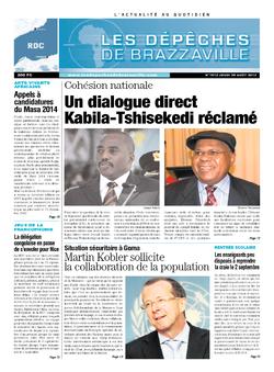 Les Dépêches de Brazzaville : Édition kinshasa du 29 août 2013