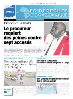 Les Dépêches de Brazzaville : Édition brazzaville du 30 août 2013