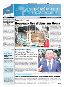 Les Dépêches de Brazzaville : Édition kinshasa du 30 août 2013