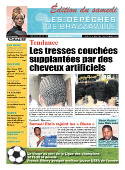 Les Dépêches de Brazzaville : Édition du 6e jour du 31 août 2013