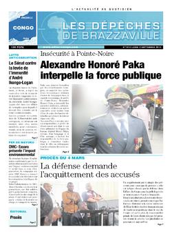 Les Dépêches de Brazzaville : Édition brazzaville du 02 septembre 2013