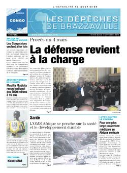 Les Dépêches de Brazzaville : Édition brazzaville du 03 septembre 2013