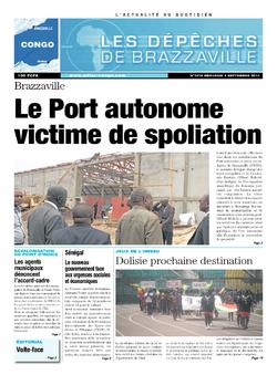 Les Dépêches de Brazzaville : Édition brazzaville du 04 septembre 2013