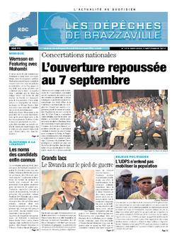 Les Dépêches de Brazzaville : Édition kinshasa du 04 septembre 2013