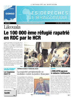 Les Dépêches de Brazzaville : Édition brazzaville du 05 septembre 2013