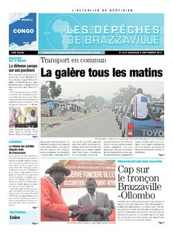 Les Dépêches de Brazzaville : Édition brazzaville du 06 septembre 2013