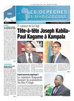 Les Dépêches de Brazzaville : Édition kinshasa du 06 septembre 2013