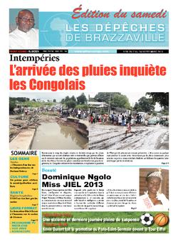 Les Dépêches de Brazzaville : Édition du 6e jour du 07 septembre 2013
