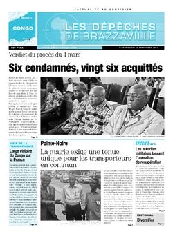 Les Dépêches de Brazzaville : Édition brazzaville du 10 septembre 2013