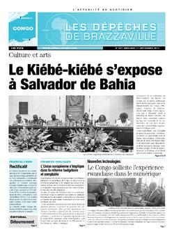 Les Dépêches de Brazzaville : Édition brazzaville du 11 septembre 2013
