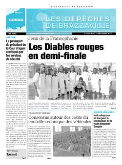 Les Dépêches de Brazzaville : Édition brazzaville du 12 septembre 2013