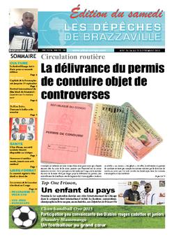 Les Dépêches de Brazzaville : Édition du 6e jour du 14 septembre 2013