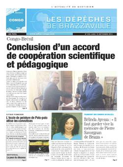 Les Dépêches de Brazzaville : Édition brazzaville du 16 septembre 2013
