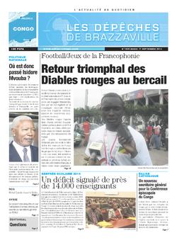 Les Dépêches de Brazzaville : Édition brazzaville du 17 septembre 2013