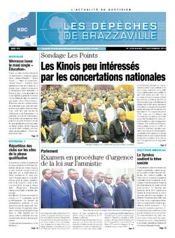 Les Dépêches de Brazzaville : Édition kinshasa du 17 septembre 2013