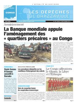 Les Dépêches de Brazzaville : Édition brazzaville du 19 septembre 2013