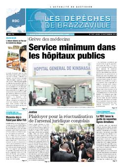 Les Dépêches de Brazzaville : Édition kinshasa du 19 septembre 2013